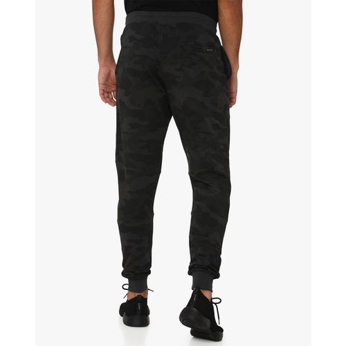 MUFTI Camouflage Print Joggers with Elasticated Drawstring Waist