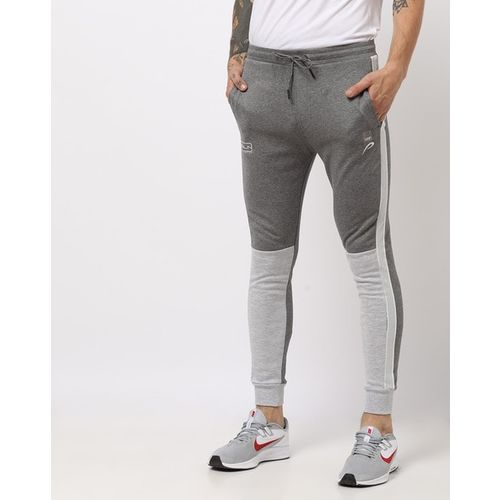 PROLINE Colourblock Slim Fit Joggers with Drawstring Fastening