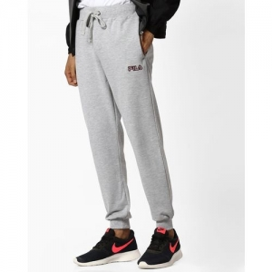 FILA Mid-Rise Joggers with Elasticated Drawstring Waist
