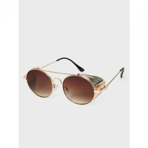 KOOVS Side Shield Tinted Round Sunglasses