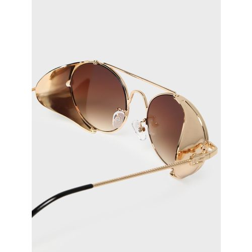 KOOVS Side Shield Tinted Round Sunglasses