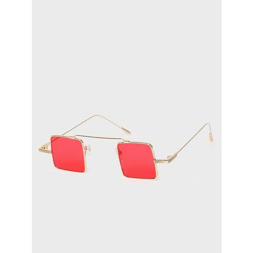 KOOVS Coloured Lens Square Sunglasses