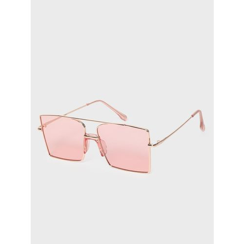 KOOVS Metal Brow Bar Square Sunglasses