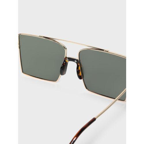 KOOVS Metal Brow Bar Square Sunglasses