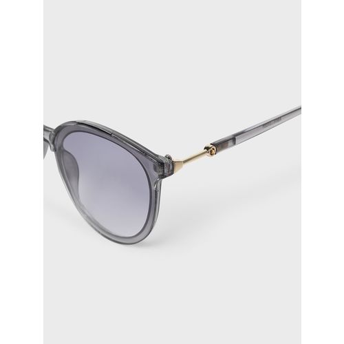 KOOVS Coloured Frame Round Sunglasses