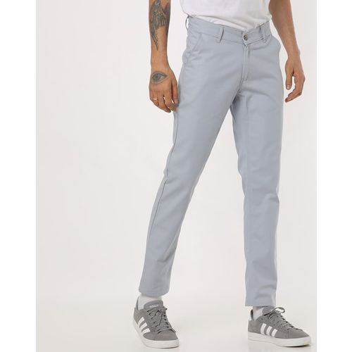 Hubberholme Flat-Front Slim Fit Trousers with Insert Pockets