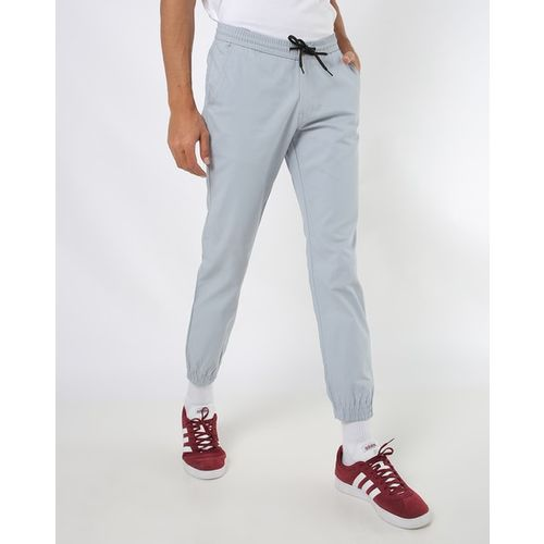 Hubberholme Mid-Rise Slim Fit Joggers with Elasticated Drawstring Waist