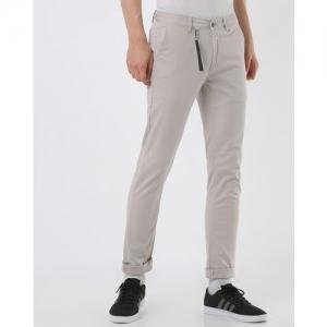 SPYKAR Low-Rise Slim Fit Flat-Front Trousers