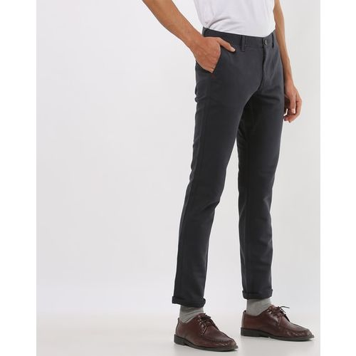 INDIAN TERRAIN Mid-Rise Slim Fit Trousers