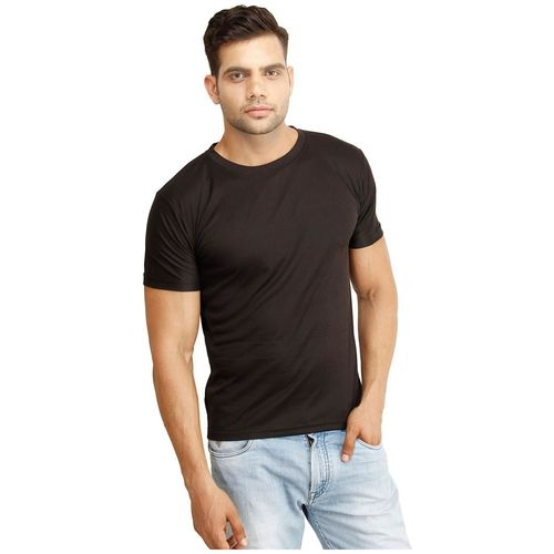 Concepts Men Black Regular fit Polyester Round neck T-Shirt - Pack Of 1 by Concepts