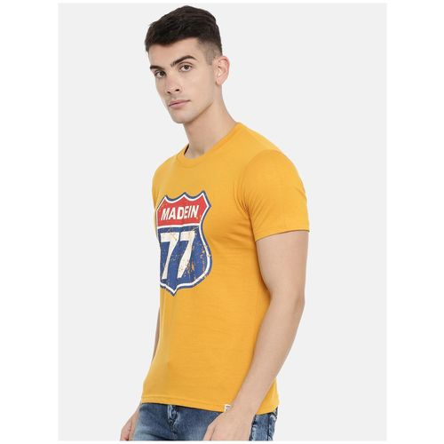 Joven Men Yellow & Grey Slim fit Cotton Round neck T-Shirt - Pack Of 2 by Joven