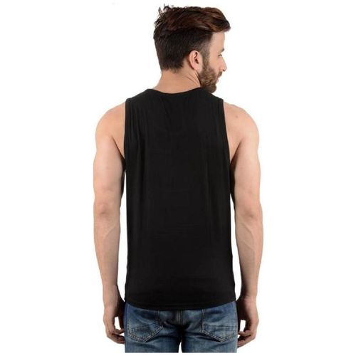 Hotfits Graphic Print Men's Round Neck Black T-Shirt by Hotfits Clothing