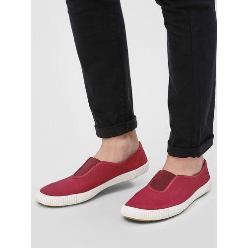 Buy KOOVS Slip-On Gusset Plimsoll Shoes