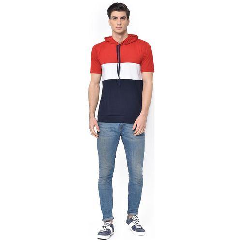 VIMAL JONNEY Men Multi Regular fit Cotton Blend Hood T-Shirt - Pack Of 1 by Mack Hosiery