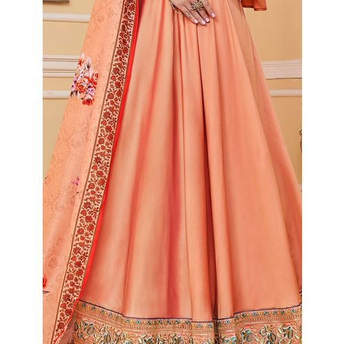 Aadya Couture bell sleeves semi-stitched suit
