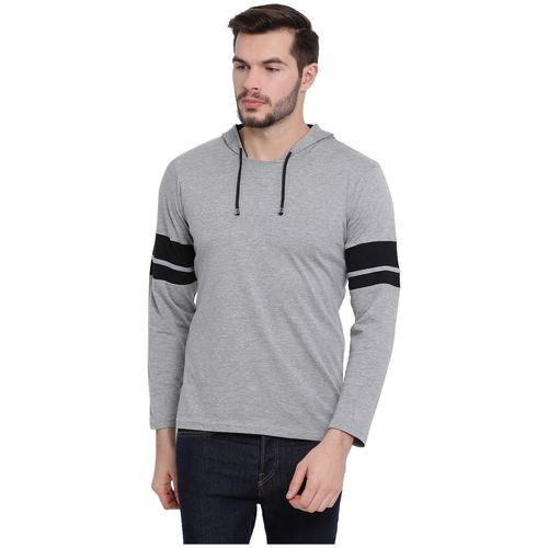 VIMAL JONNEY Men Black & Grey Regular fit Cotton Hood T-Shirt - Pack Of 2 by Mack Hosiery