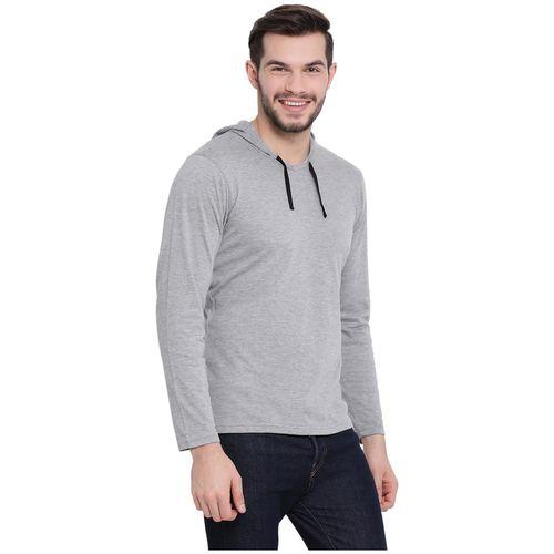 VIMAL JONNEY Men Grey & White Regular fit Cotton Hood T-Shirt - Pack Of 2 by Mack Hosiery
