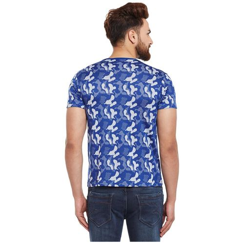 VIMAL JONNEY Men Blue Slim fit Cotton Round neck T-Shirt - Pack Of 1 by Mack Hosiery