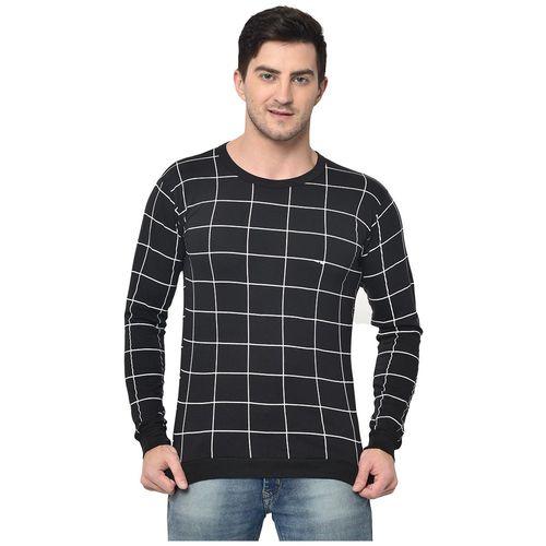 VIMAL JONNEY Men Black Regular fit Cotton Blend Round neck T-Shirt - Pack Of 1 by Mack Hosiery