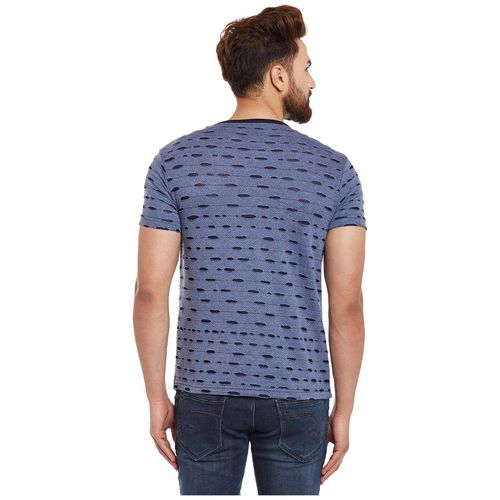 Vimal Jonney Camaflauge/Army Royal Blue And Navy Ripped Look Printed Tshirts For Men(Pack Of 2) by Mack Hosiery