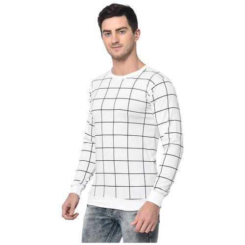 VIMAL JONNEY Men White Regular fit Cotton Blend Round neck T-Shirt - Pack Of 1 by Mack Hosiery