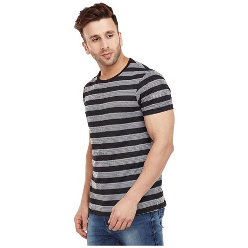 VIMAL JONNEY Men Black Slim fit Cotton Round neck T-Shirt - Pack Of 1 by Mack Hosiery
