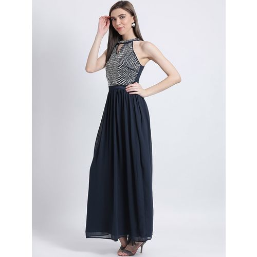 KAZO embellished gathered gown