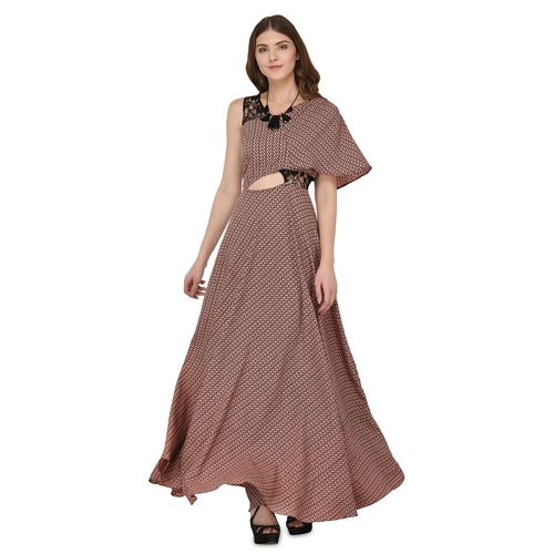 Raas cut out detail geometric gown