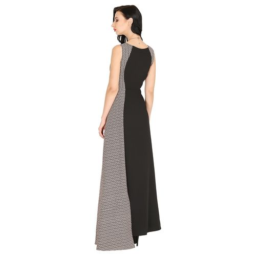 Raas color block boat neck gown dress