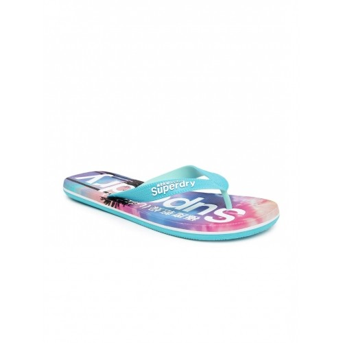 Superdry Men Blue Printed Flip-Flops