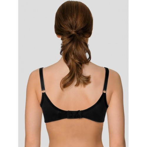 cadda9e4afc59 Buy Vanity Fair Black Cotton Semi Transparent Lace Bra online ...