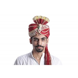 SBD Indian Groom Red Traditonal Wedding Safa