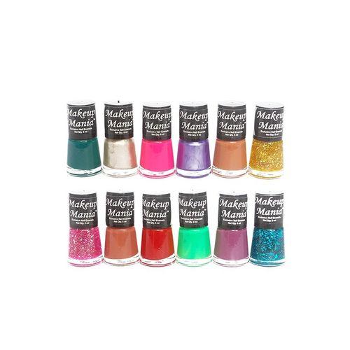 C.A.L Los Angeles makeup mania exclusive nail polish set of 12 pcs (multicolor set # 84)