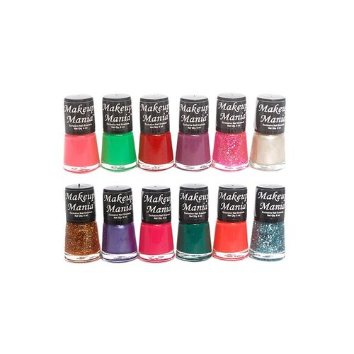 C.A.L Los Angeles makeup mania exclusive nail polish set of 12 pcs (multicolor set # 78)