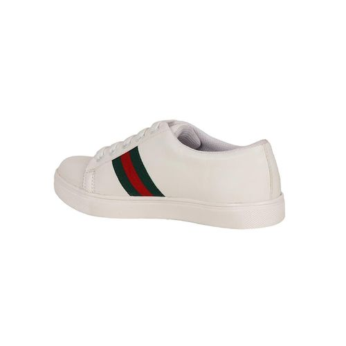 NE Shoes white lace-up sneakers