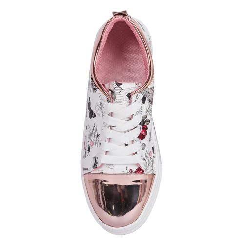 Creattoes white lace-up sneakers