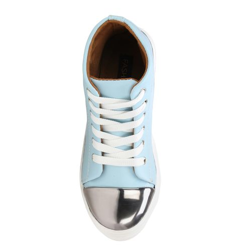 FASHIMO light blue lace-up sneakers