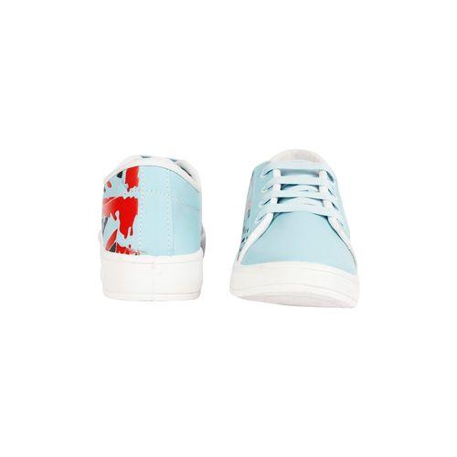 Longwalk blue lace-up sneakers