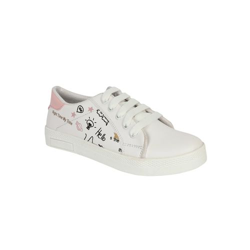 Filippa white lace-up sneakers