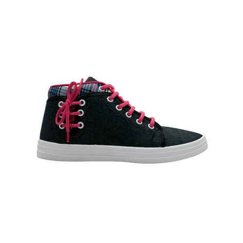 asian black lace-up sneakers