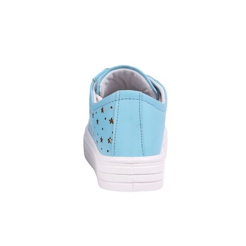Creattoes blue lace-up sneakers