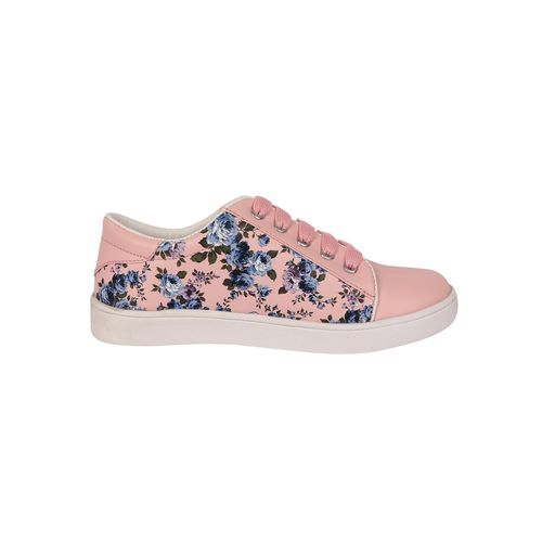 NE Shoes pink lace-up sneakers