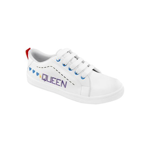 Shoe Island white lace-up sneakers