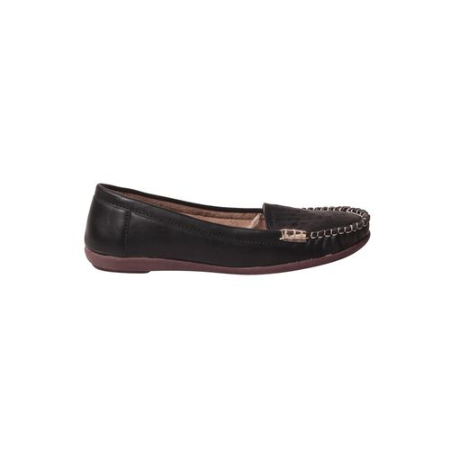 MSC black faux leather slip on loafers
