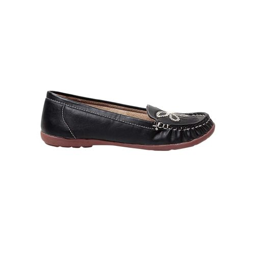 MSC black slip on embellished loafer