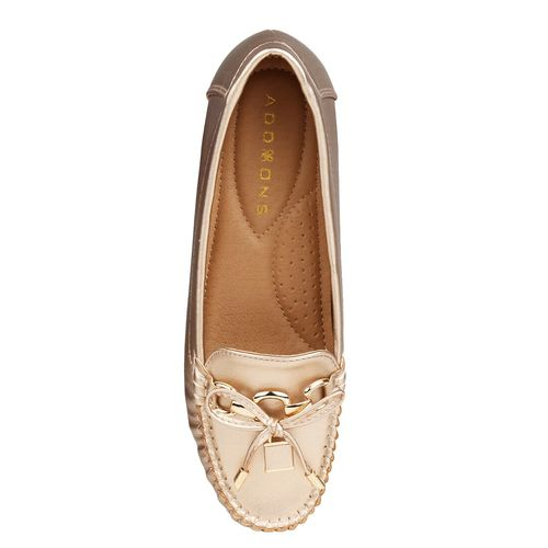 Addons gold slip on loafers