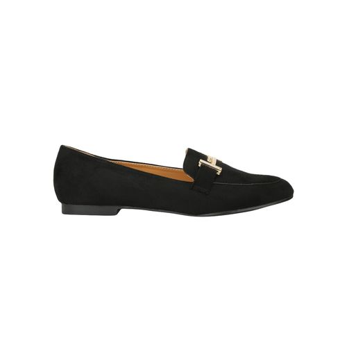 Truffle Collection black slip on loafers