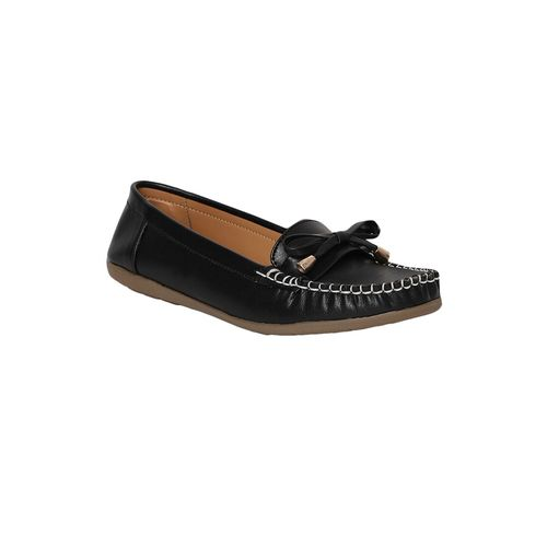Nupie black slip on loafers