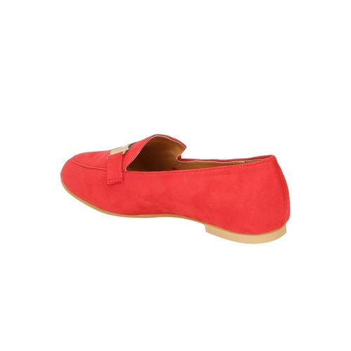 Truffle Collection red slip on loafers