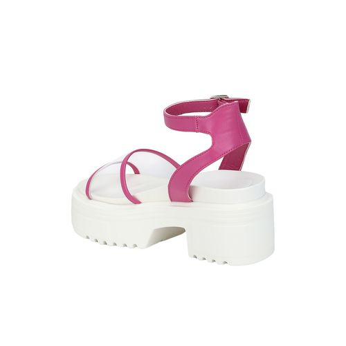 Truffle Collection pink platforms sandals